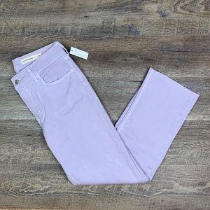 Anthro Pilcro High Rise Crop Lavender 29 NWT